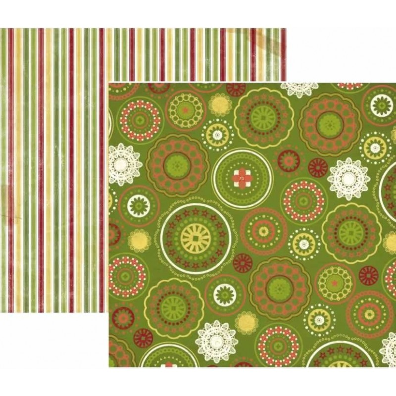 BoBunny Papel Christmas Collage Joy