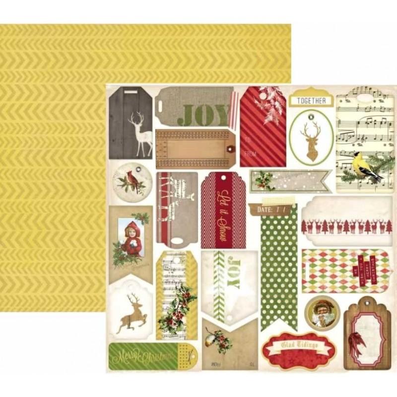 BoBunny Papel Christmas Collage Glad Tidings