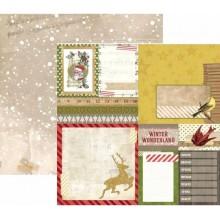 BoBunny Papel Christmas Collage Flurry