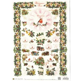 Papel de arroz Christmas Time DGR-268