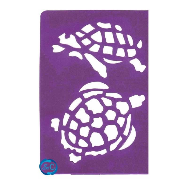 Plantilla adhesiva tortugas, Brico 246