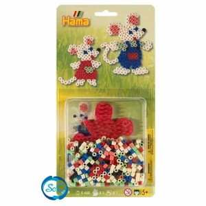 Blister Hamma Beads Ratoncitos 4122