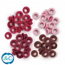 Ojales pequeños Tonos rojos, 5mm