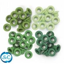 Ojales pequeños Tonos verdes, 5mm