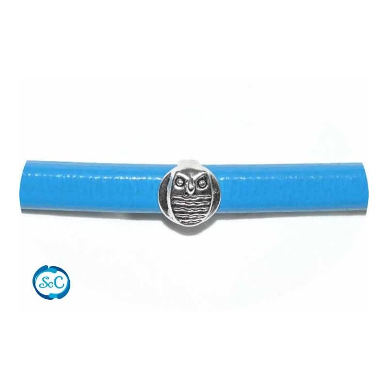 Bracelet Buho plata para cuero regaliz