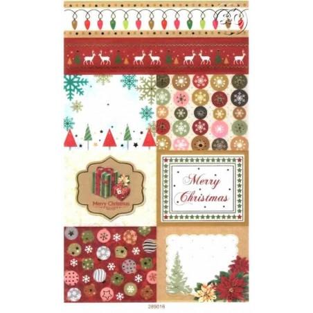 Hoja de pegatinas navidad 2