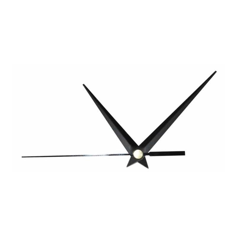 Juego de agujas reloj metalicas 9,3 cm