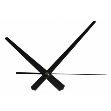 Juego de agujas reloj metalicas 18 cm