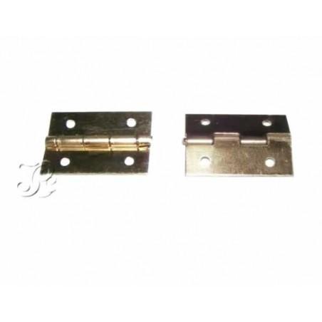 Bisagra (2 unidades) latonadas para caja