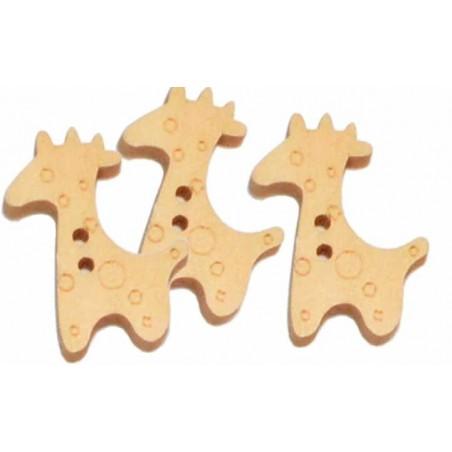 Boton de madera jirafa 1 unidad