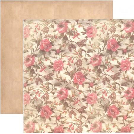 Flores retro nº 6 Un manto de flores rosas
