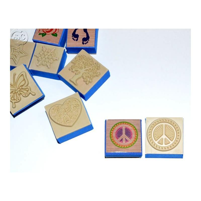 Sello caucho Simbolo de paz, 3 cm