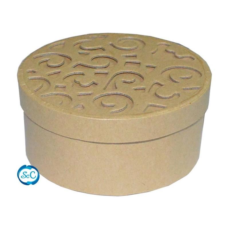 Caja carton craft redonda
