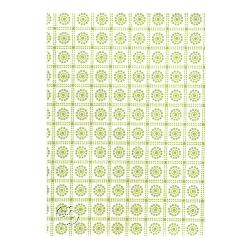 Fieltro estampado Cuadrados verdes,45 cm x 1 metro