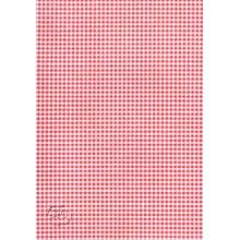 Fieltro estampado cuadros rojos,45 cm x 1 metro