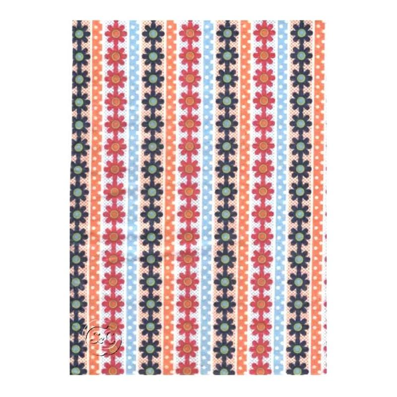 Fieltro estampado Cenefas multicolor,45 cm x 1 metro