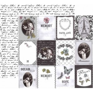Papel scrap doble cara VIntage Paris