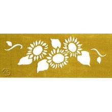 Plantilla metalica Brico 3x18 cm Girasoles 2