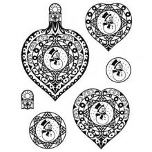 Sello silicona Navidad 3 corazones