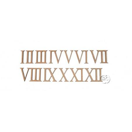 Números DM romanos para reloj, 2 cm