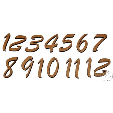 Números DM romanticos para reloj, 2,6 cm