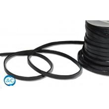 Tira de cuero negra 5mm, 50 cm