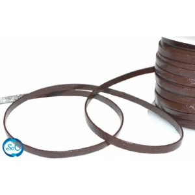Tira de cuero marron 5mm, 50 cm