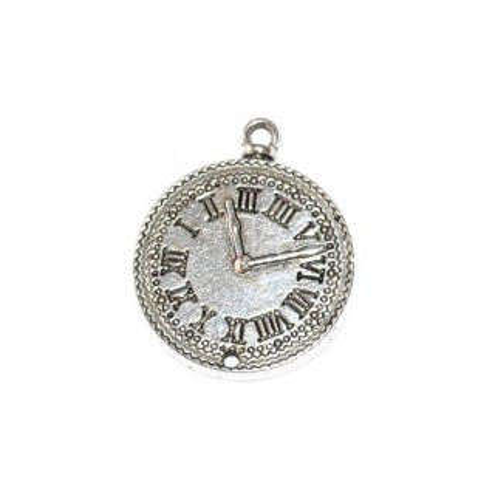 Reloj decorativo color plata, 3 cm