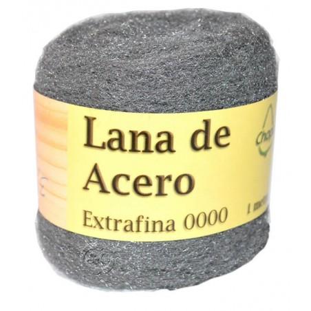 Lana de acero extrafina 0000, 1 metro