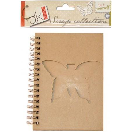Block de notas Scrap Collection con ventana mariposa