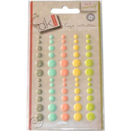 Enamel Dots verdes adhesivos para scrapbooking