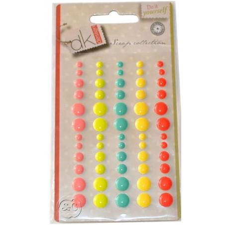 Enamel Dots rojo adhesivos para scrapbooking
