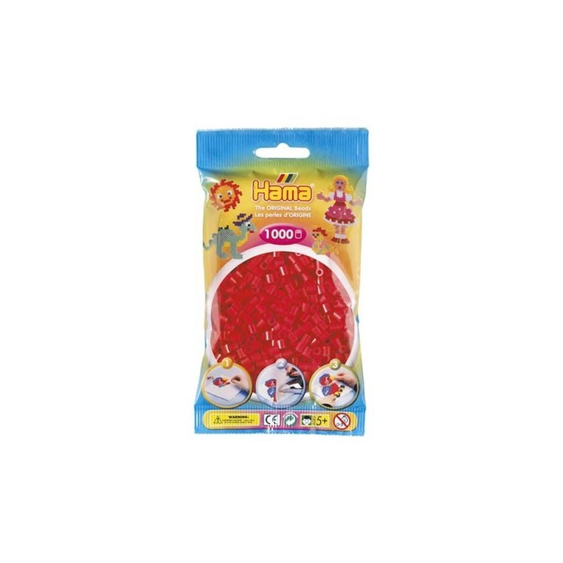 Hama Beads 1000 piezas Midi rojo