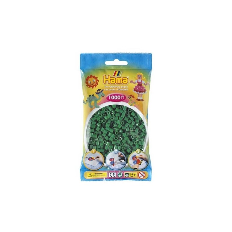 Hama Beads 1000 piezas Midi verde