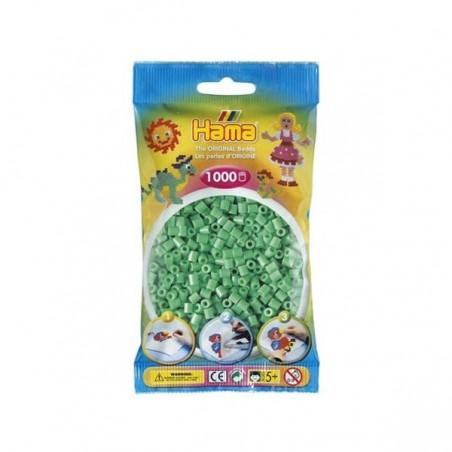 Hama Beads 1000 piezas Midi verde claro
