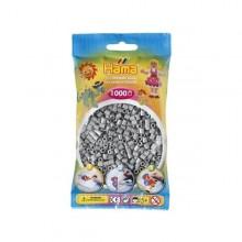 Hama Beads 1000 piezas Midi gris
