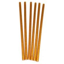 Barras de pegamento silicona de calor oro glitter