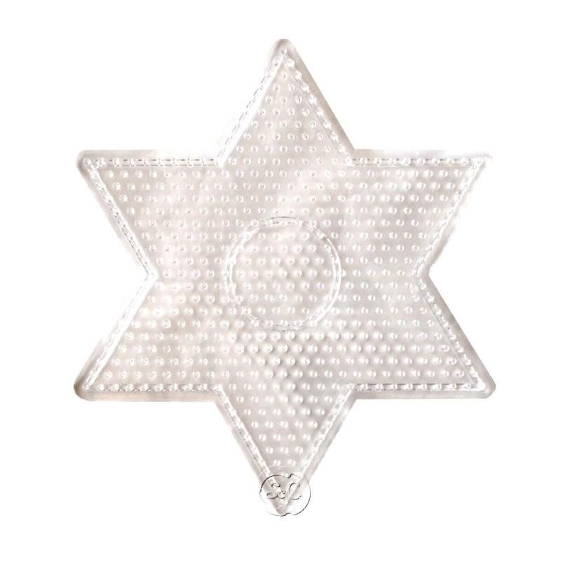 Placa estrella Hama Midi 15 x 15 cm