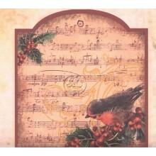 Papel scrap de navidad Tag y marca paginas, Stamperia