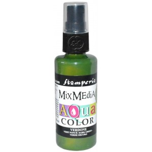 Mix Media Aquacolor Tinta verde oscuro, 60 ml