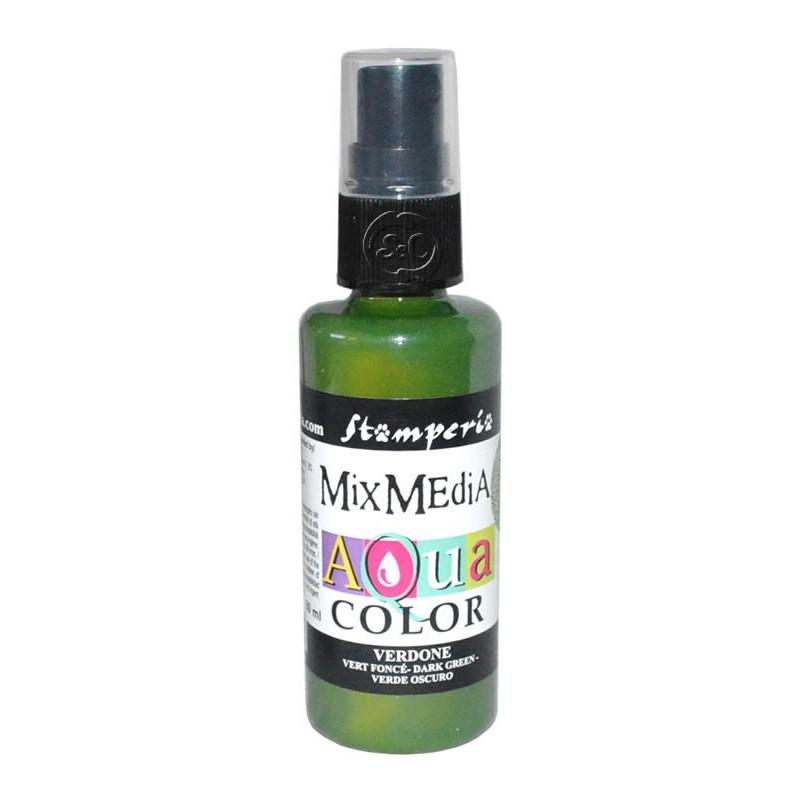 Mix Media Aquacolor Tinta verde oscuro, 60 ml