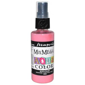 Mix Media Aquacolor Tinta rosa bebe, 60 ml
