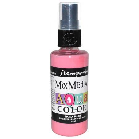 Mix Media Aquacolor Tinta rosa bebe, 60 ml