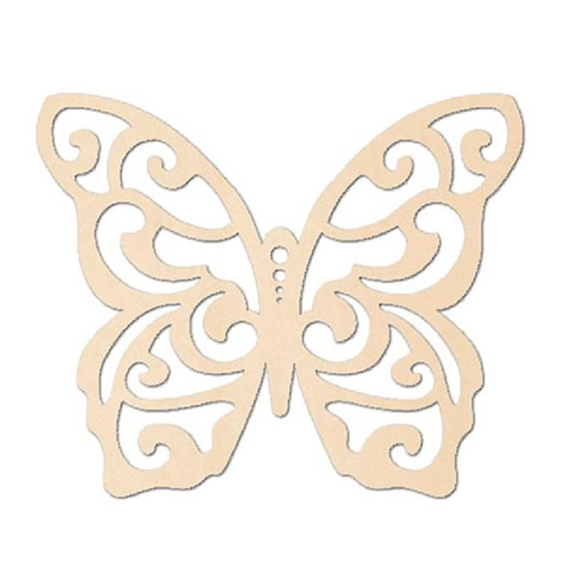 Silueta mariposa 14 x 12 cm.