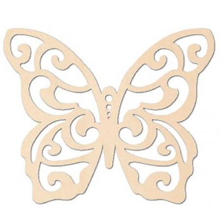 Silueta de madera mariposa 9 x 7 cm.