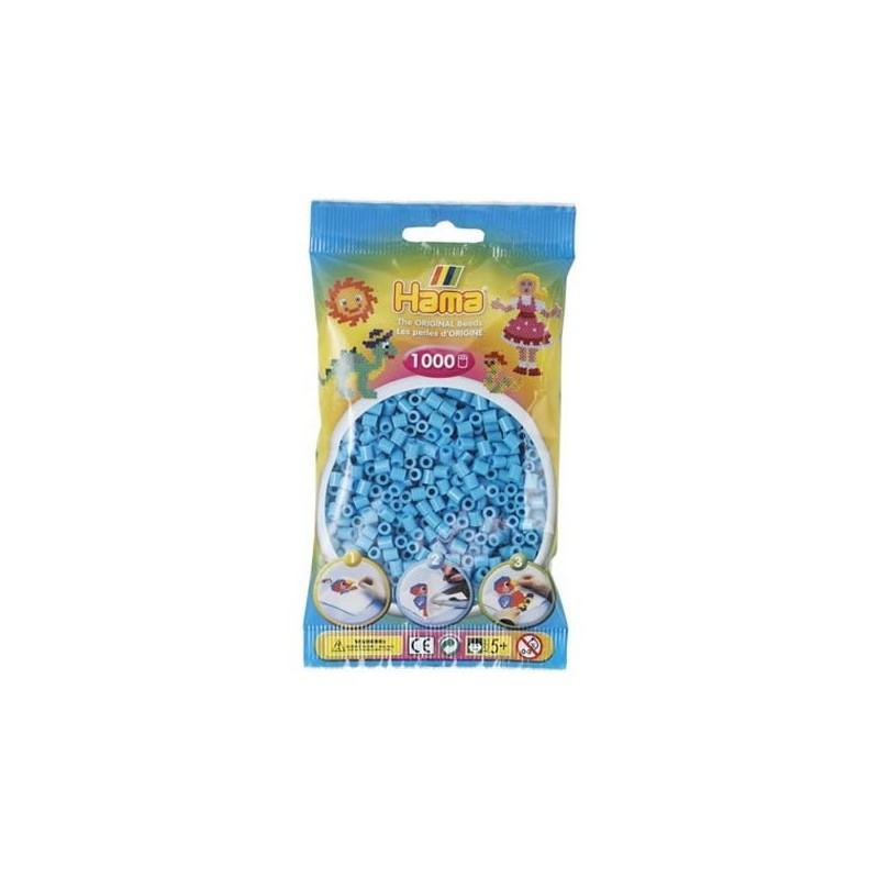 Hama Beads 1000 piezas Midi azul celeste