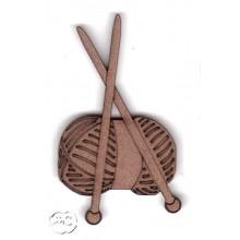 Silueta madera para scrap tricotar