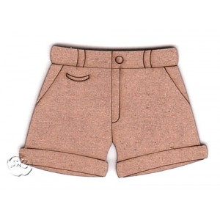 Silueta madera para scrap pantalon corto