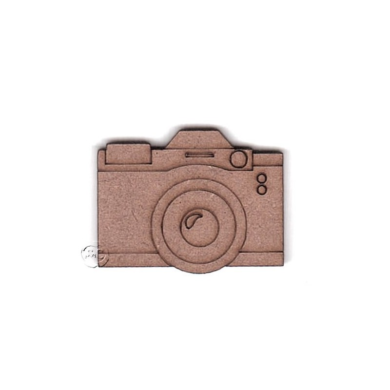 Silueta madera para scrap camara de fotos
