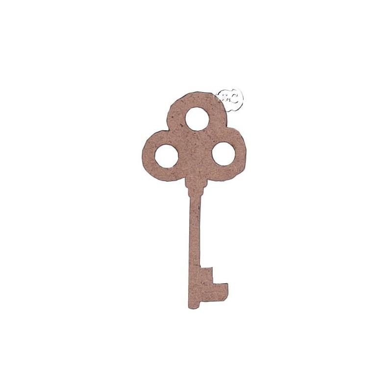 Silueta madera para scrap llave vieja